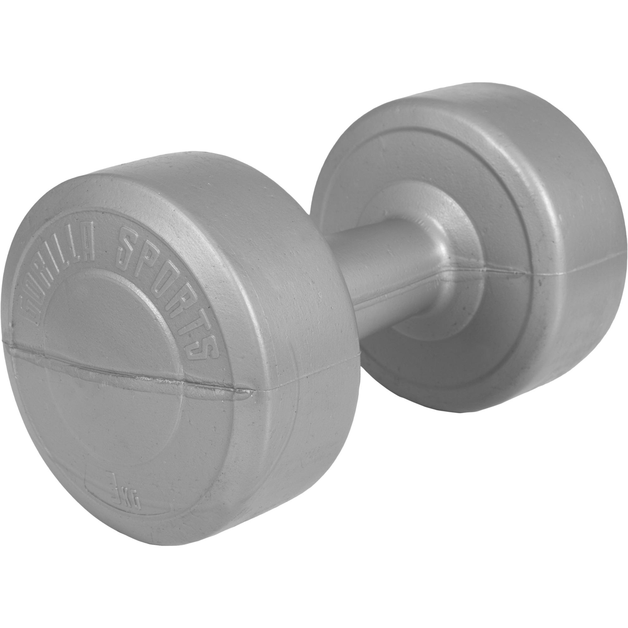 Gymnastikhantel Aerobic Kunststoff Silber 3 kg