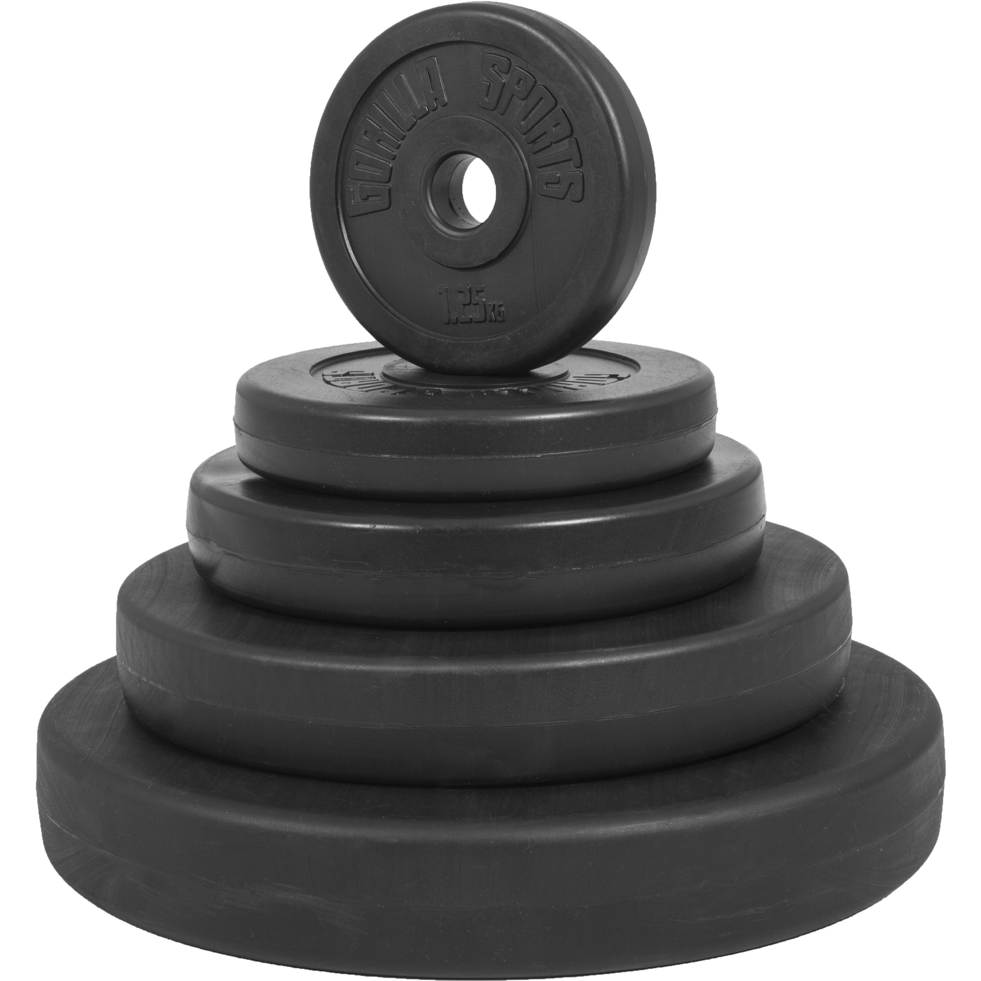 1,25-30 kg Gewichte mit 30//31 mm Bohrung GORILLA SPORTS/® Hantelscheiben-Set//Einzeln Chrom