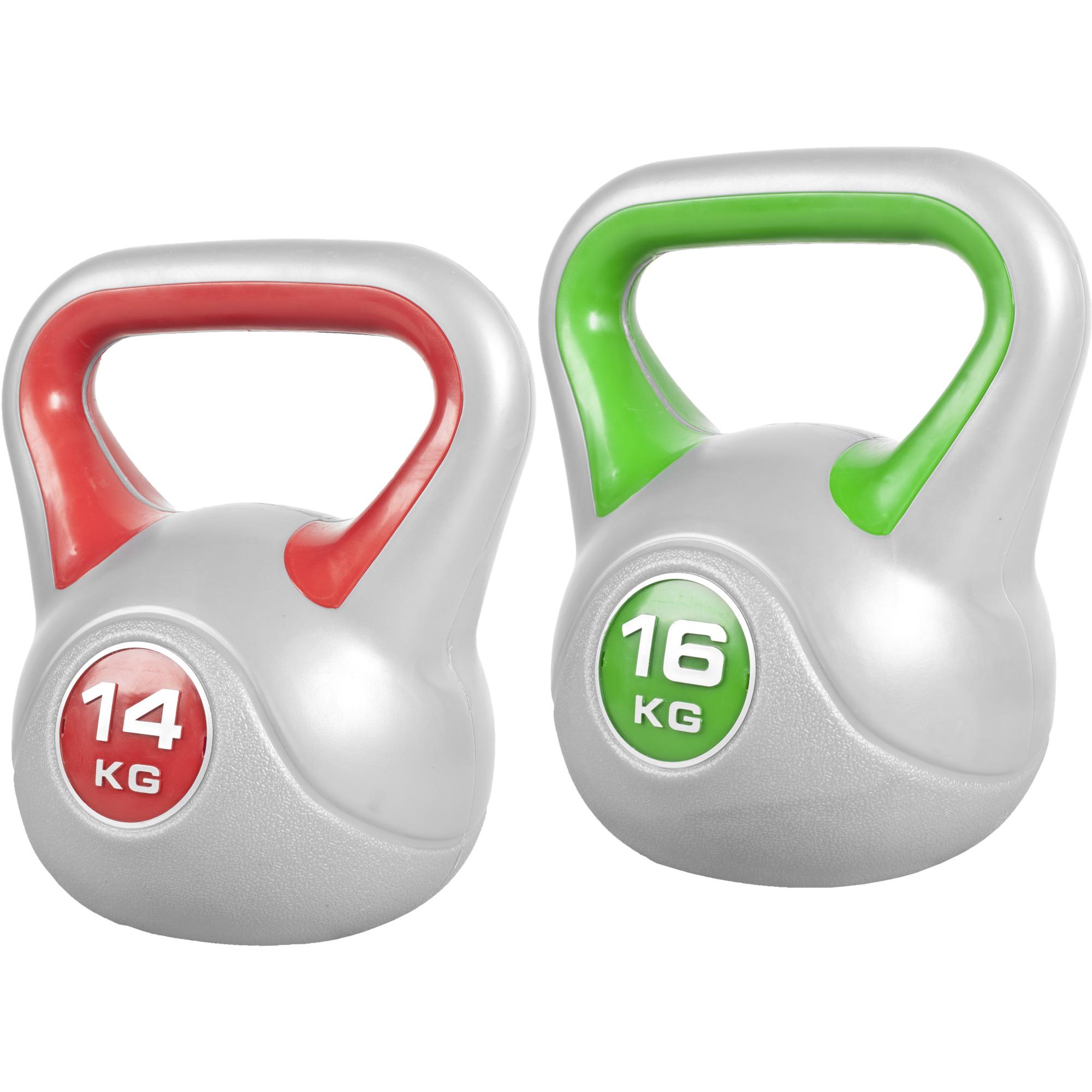 Kettlebellset 14 kg, 16 kg Kunststoff 30 kg