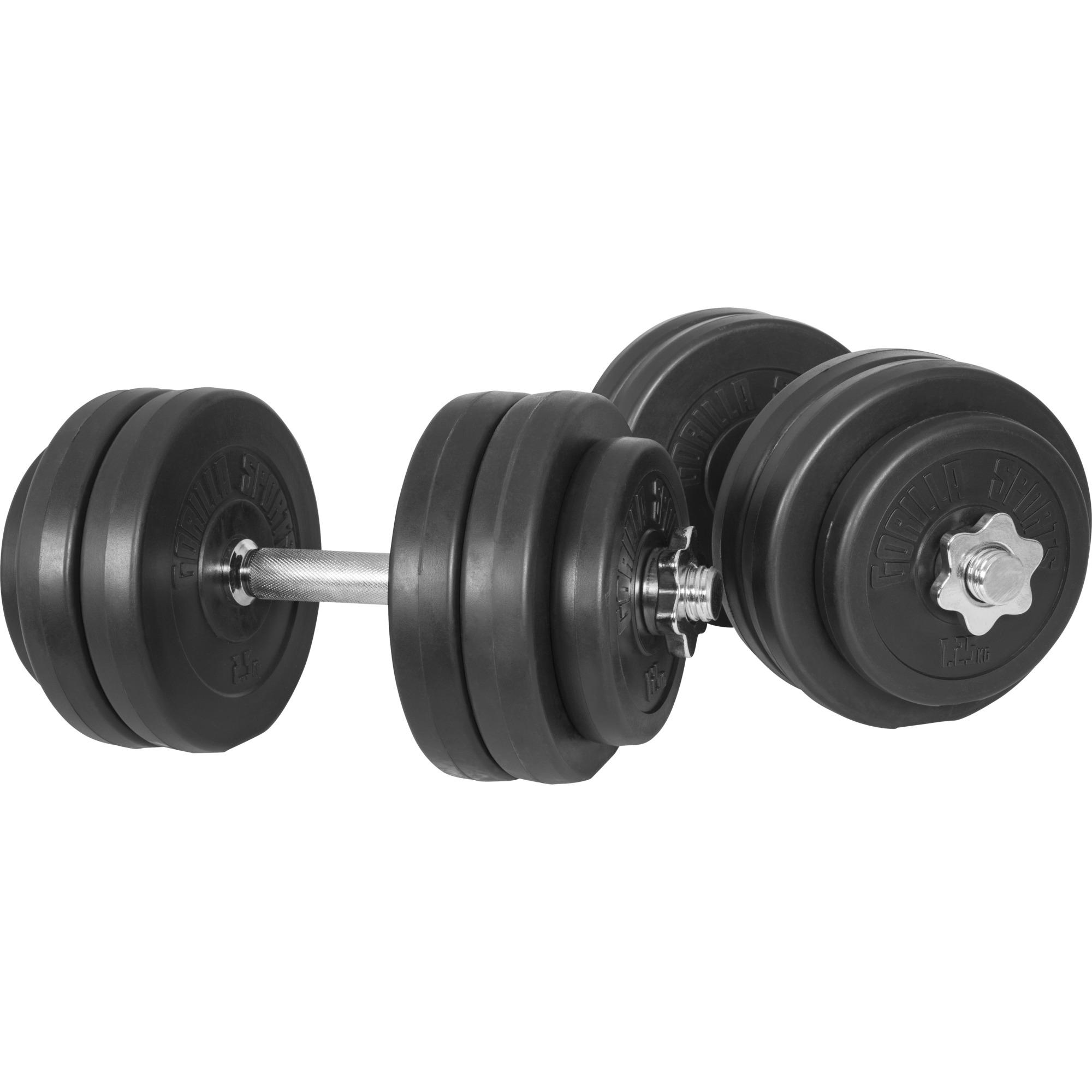 Gorilla Sports Kurzhantelset Kunststoff 30 kg 30mm McFit Kurzhantelset 30 kg