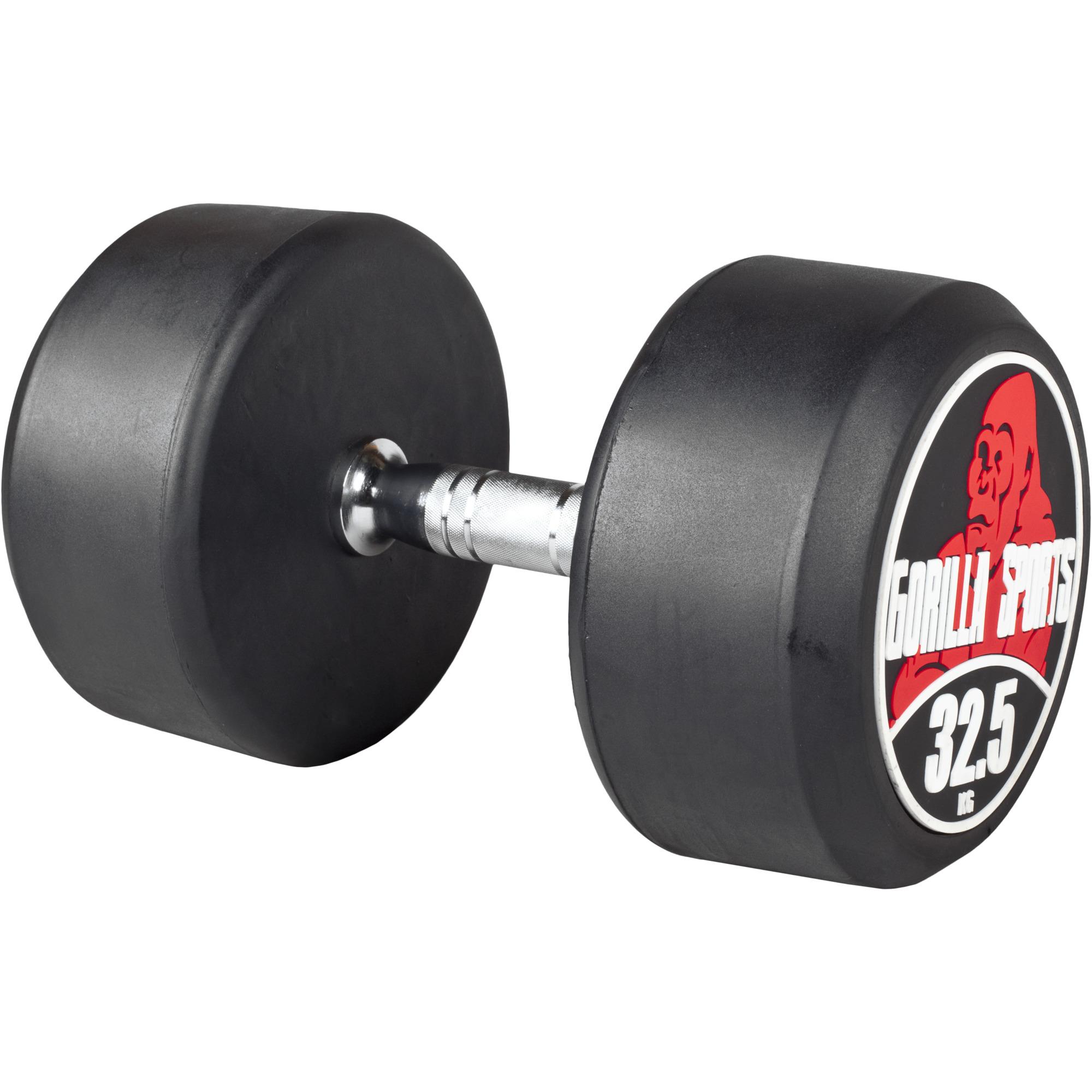Gorilla Sports Rundhantel Schwarz/Rot 32,5 kg 100532-00049-0035
