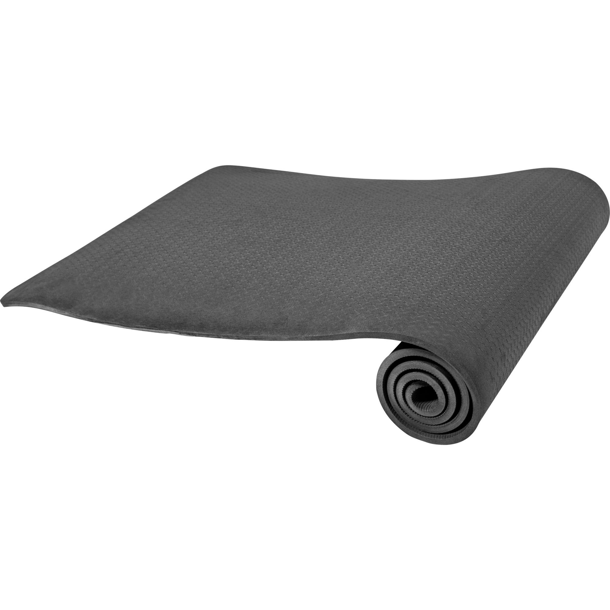 Yogamatte Dünn Schwarz 4 mm