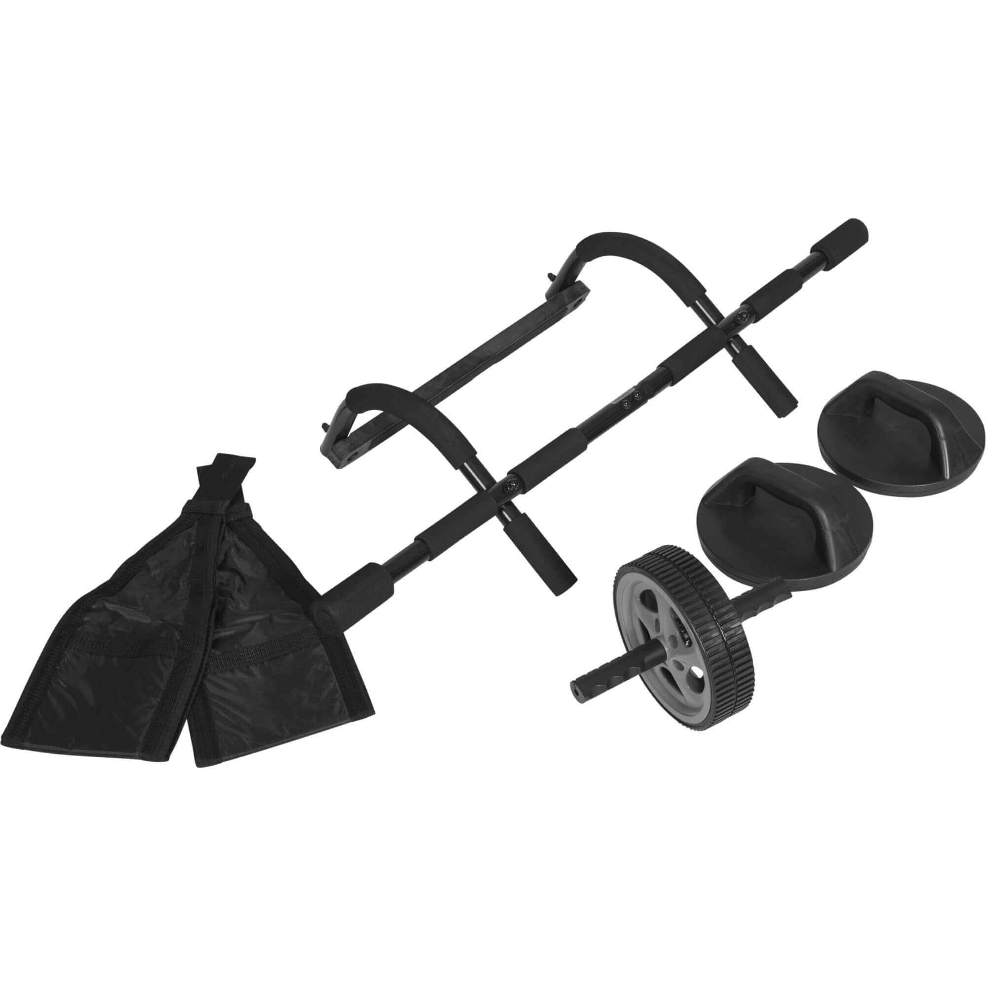 GORILLA SPORTS® Trainingsset 6 in 1 Klimmzugstange Push Up Bar Ab Wheel