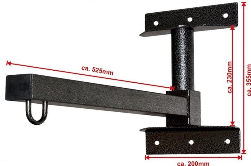 Excalibur Wandhalterung f/ür Boxs/äcke klappbar Folding Sandsack Halterung