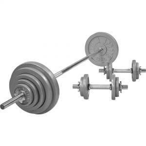 Langhantelset Gusseisen 100 kg