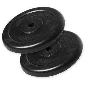 Hantelscheibenset Gummi 30 kg - 2 x 15 kg