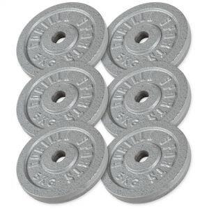 Hantelscheibenset Gusseisen 30 kg - 6 x 5 kg