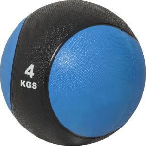 Medizinball Blau/Schwarz 4 kg