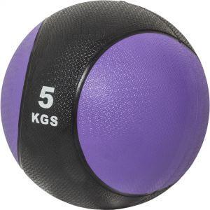 Medizinball Violett/Schwarz 5 kg