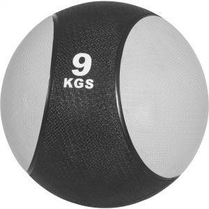 Medizinball Grau/Schwarz 9 kg