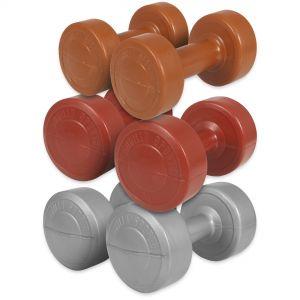 Aerobic Gymnastik Hantelset Kunststoff 10 kg - 2 x 1 - 2 x 2 - 2 x 3 kg