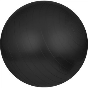 Gymnastik Fitness Sitzball Schwarz 75 cm