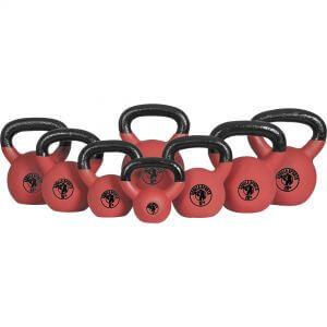 Red Rubber Kettlebell 4-32 KG