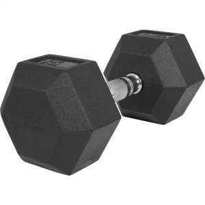 Hexagon Kurzhantel Gummi 15 kg