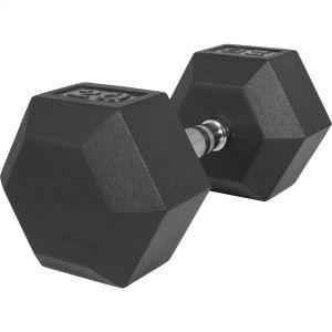 Hexagon Kurzhantel Gummi 20 kg