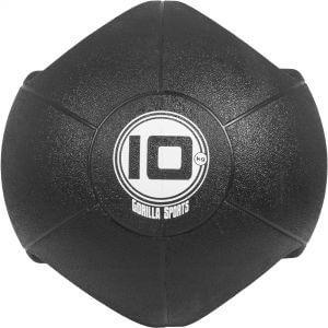 Medizinball mit Eingriffen Schwarz 10 kg