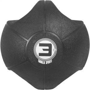 Medizinball mit Eingriffen Schwarz 3 kg