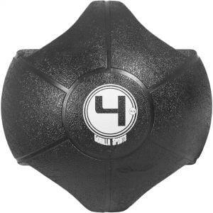 Medizinball mit Eingriffen Schwarz 4 kg