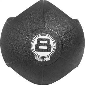 Medizinball mit Eingriffen Schwarz 8 kg