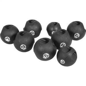 Medizinball mit Eingriffen Schwarz