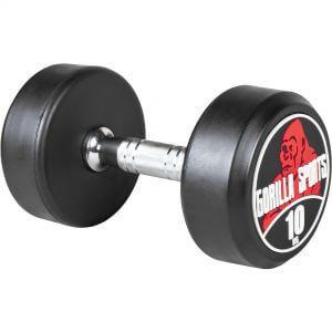 Rundhantel Schwarz/Rot 10 kg