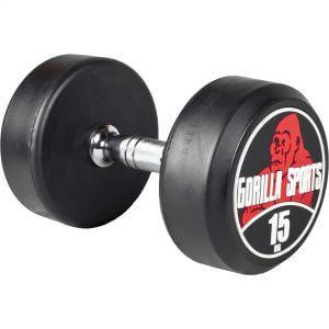 Rundhantel Schwarz/Rot 15 kg