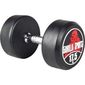 Rundhantel Schwarz/Rot 17,5 kg