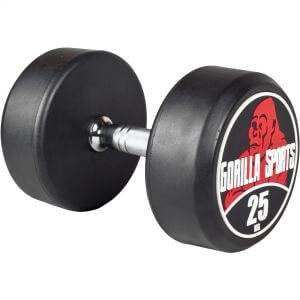 Rundhantel Schwarz/Rot 25 kg