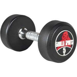 Rundhantel Schwarz/Rot 5 kg