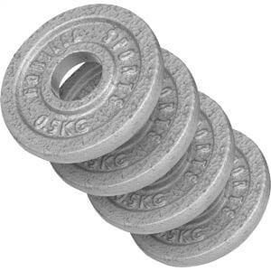 Hantelscheibe Gusseisen 2 kg - 4 x 0,5 kg