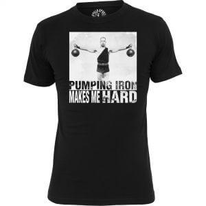 Gorilla T-Shirt Old School Pumping Iron Schwarz S