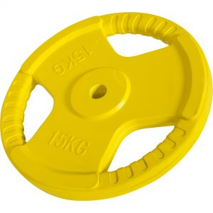 Hantelscheibe 30/31 mm Gummi Gripper 15 kg