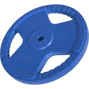 Hantelscheibe 30/31 mm Gummi Gripper 20 kg