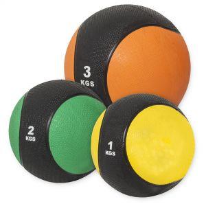 Medizinballset 1x 1kg, 2kg, 3kg Set 6 kg