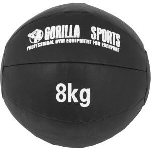 Medizinball Kunstleder Schwarz 8 kg