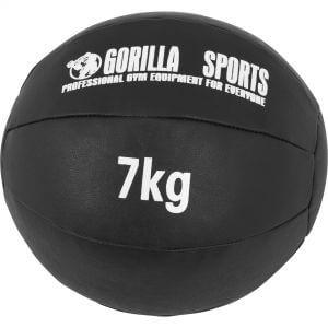 Medizinball Kunstleder Schwarz 7 kg