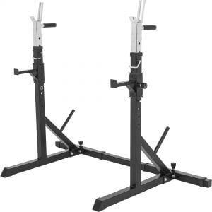 Verstellbarer Kniebeugenständer Langhantel Squat Rack Schwarz