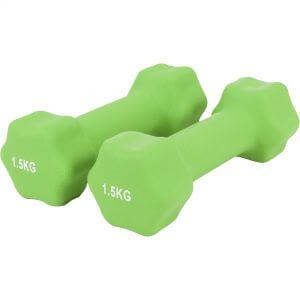 Gymnastikhantel Neopren Hellgrün 3 kg - 2 x 1,5 kg