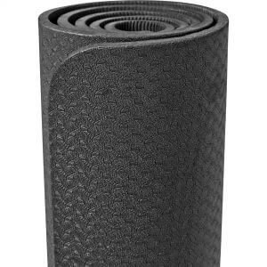 Yogamatte Dünn Schwarz 10 mm