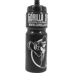 Trinkflasche Gorilla Sports Schwarz/Silber 750 ml