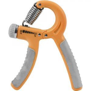 Fingerhantel verstellbar Orange/Grau