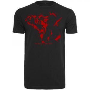T-Shirt Basic Schwarz mit Aufdruck